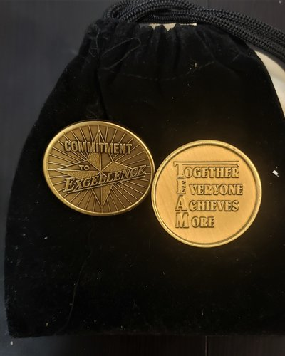 Commitment To Excellence Gratitude Coin