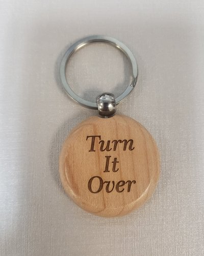 Wood Turn It Over Key Ring