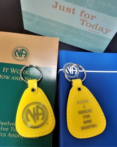 NA Key Tag- 9 Mons- Yellow