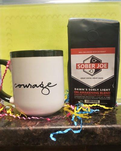 Black/White Courage Mug