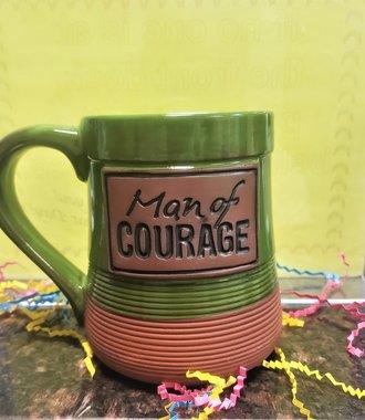 Man of Courage Pottery Mug