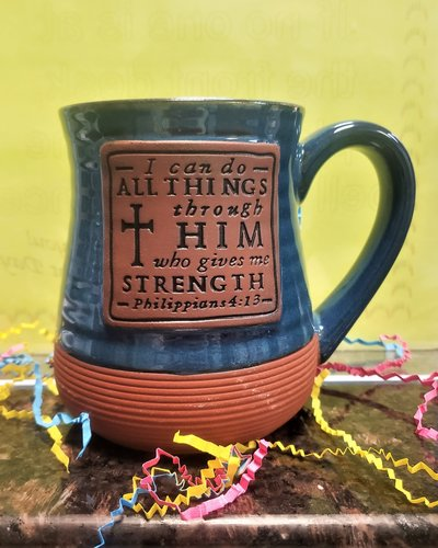 I Can Do All Things Pottery Mug