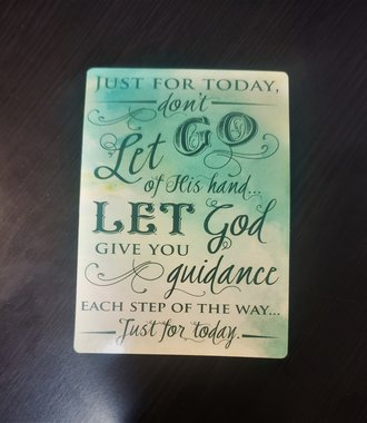 Just For Today Verse Card
