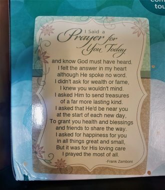 I Said A Prayer Verse Card - 25 pack