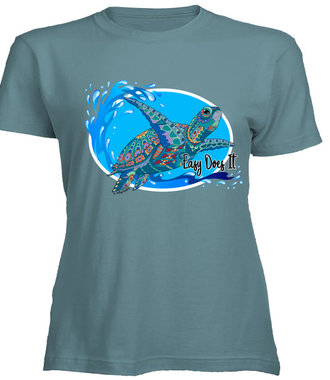Easy Does It Turtle Tee/Large