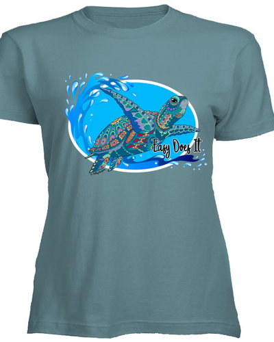 Valley Graphics Easy Does It Turtle Tee/Large