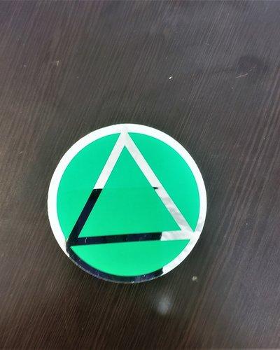 AA Green/ Chrome Sticker