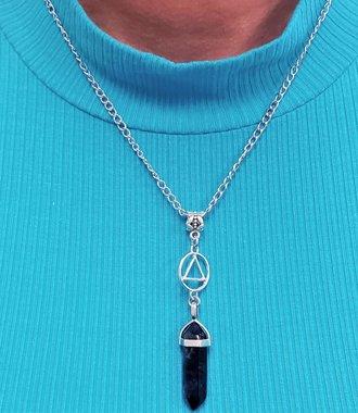 Amethyst Drop AA Necklace