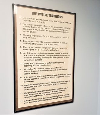 Poster -  AA 12 Traditions, Large 24 X 36