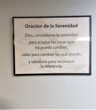 """Poster, NA Serenity Prayer  - Spanish 17.5"""" X 23"""""""
