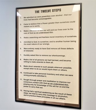 Poster - AA 12 Steps, Large 24 X  36