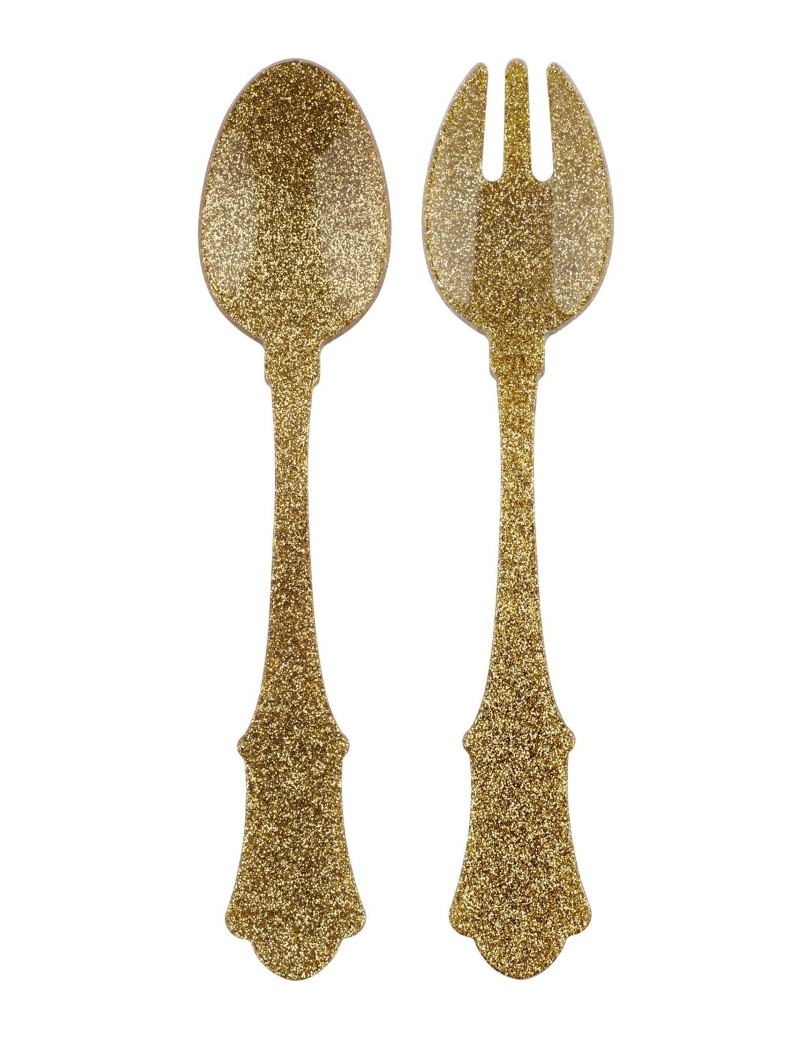 Sabre Salad Set 2 PCS Glitter Gold