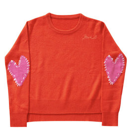 Kerri Rosenthal Patchwork Love Dk. Orange + Pink
