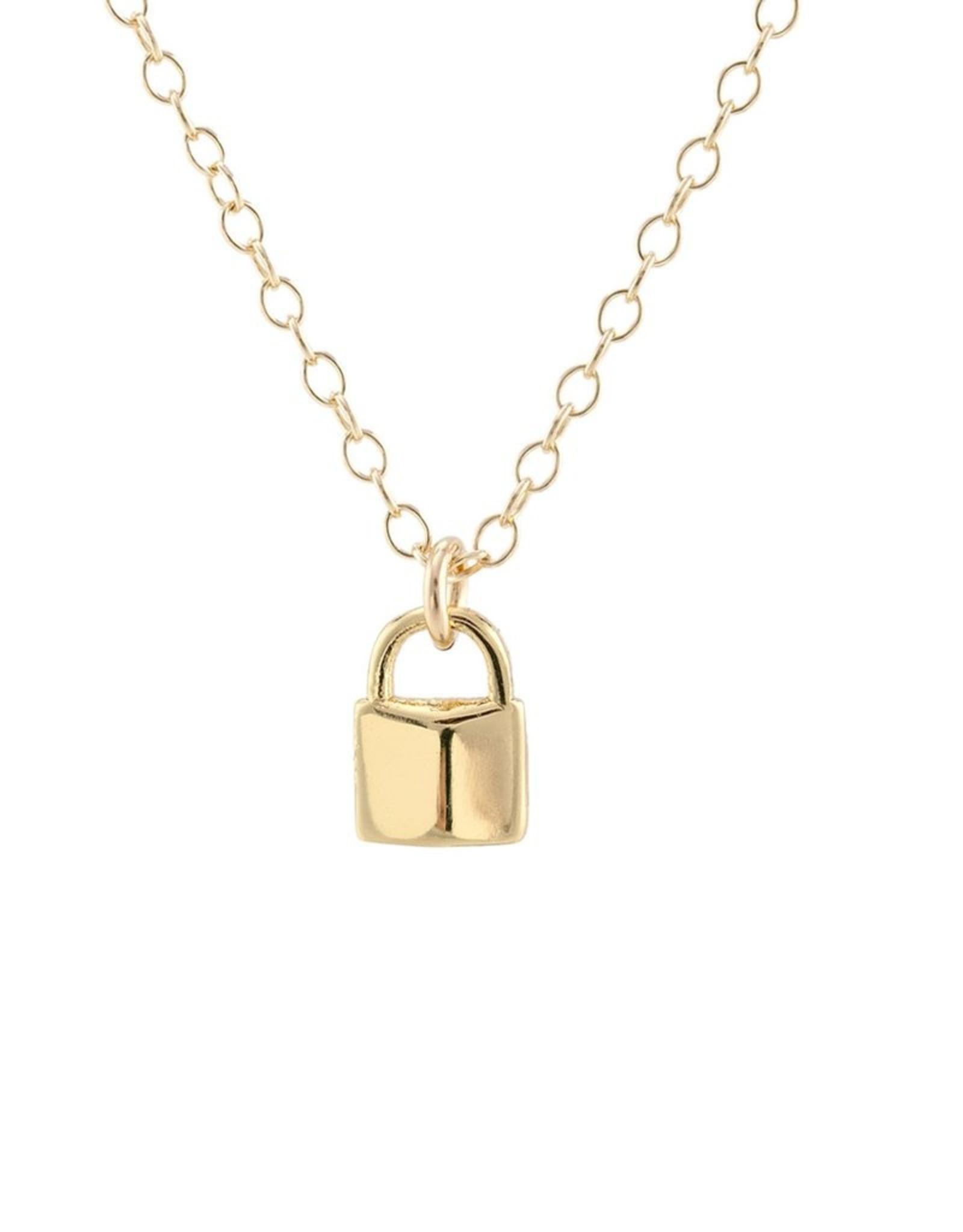 Kris Nations Padlock Charm Necklace