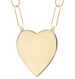Kris Nations Large Heart Pendant on Link Chain