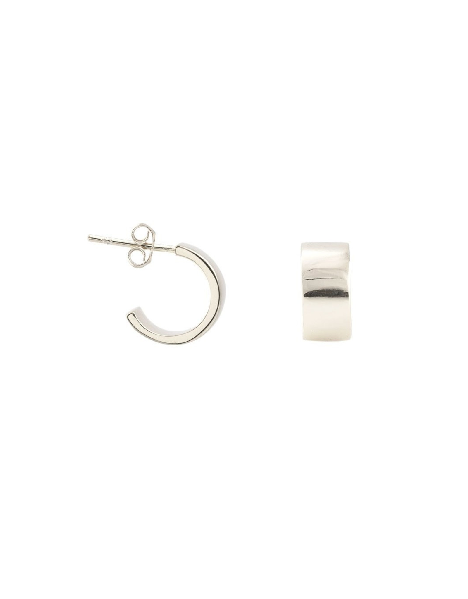 Kris Nations Wide Huggie Hoop Earrings Gold