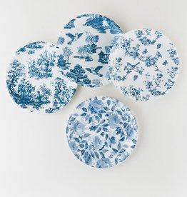 One Hundred 80 Degrees Blue & White Melamine Plates s/4
