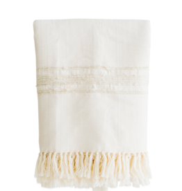 Azulina Home Bogota Throw - Creme