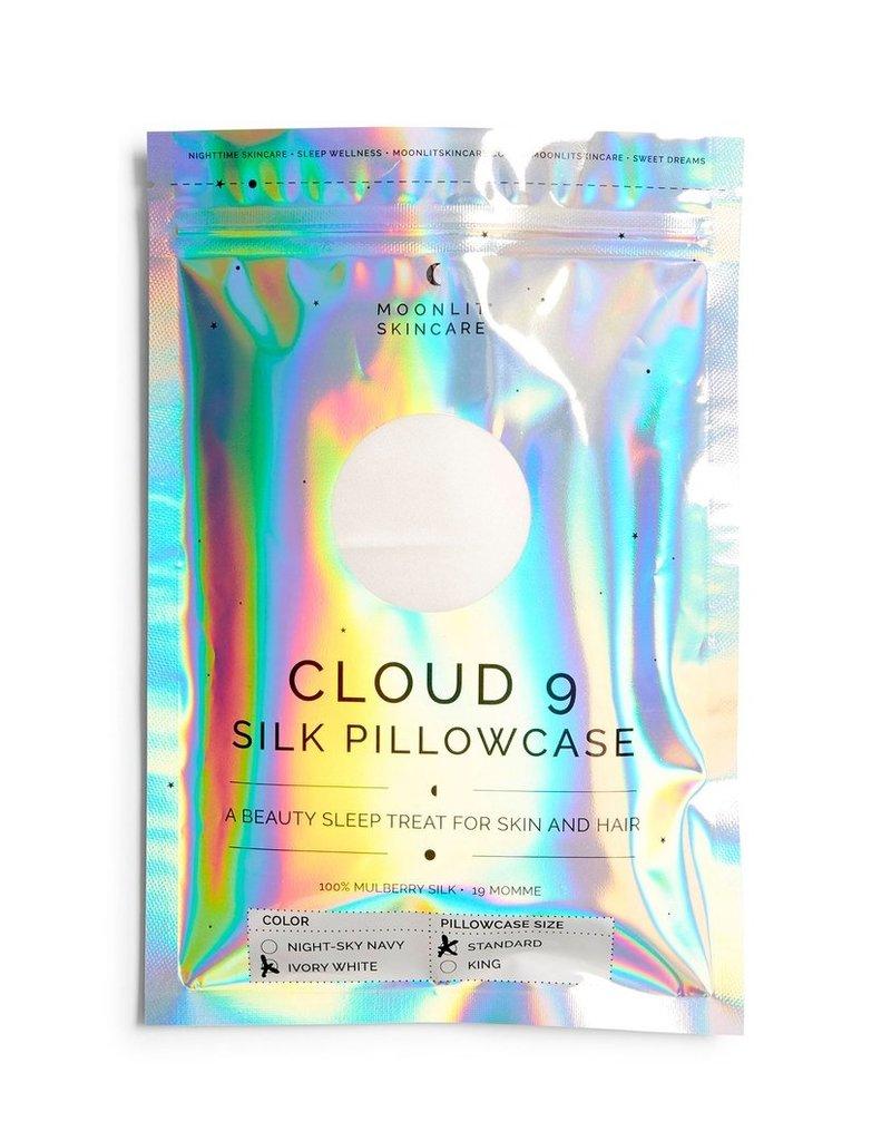 Moonlit Skincare Silk Pillowcase Standard White