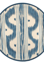 Habitat International Lacquered Tray and Stand - Blue Ikat