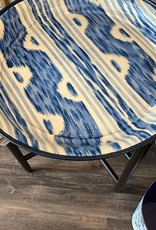 Habitat International Laquered Tray and Stand - Blue Ikat
