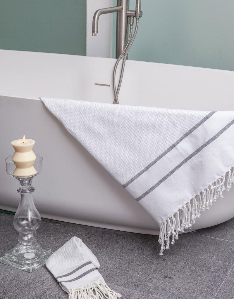 Scents & Feel Fouta Striped Herringbone Body Towel