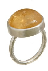 Emily Rose Gems Citrine Ring SZ 7