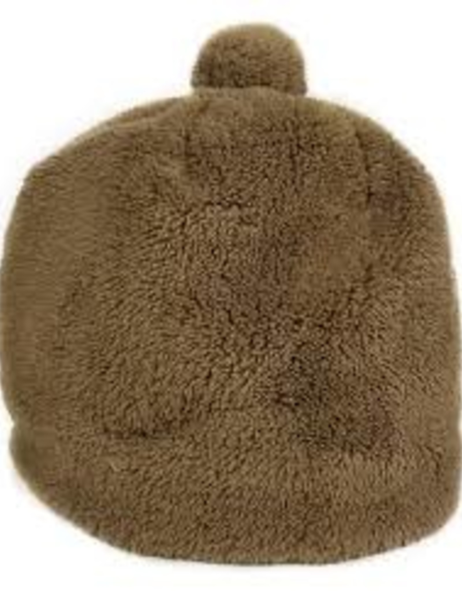 Hat Attack Teddy Pom Hat - Brown