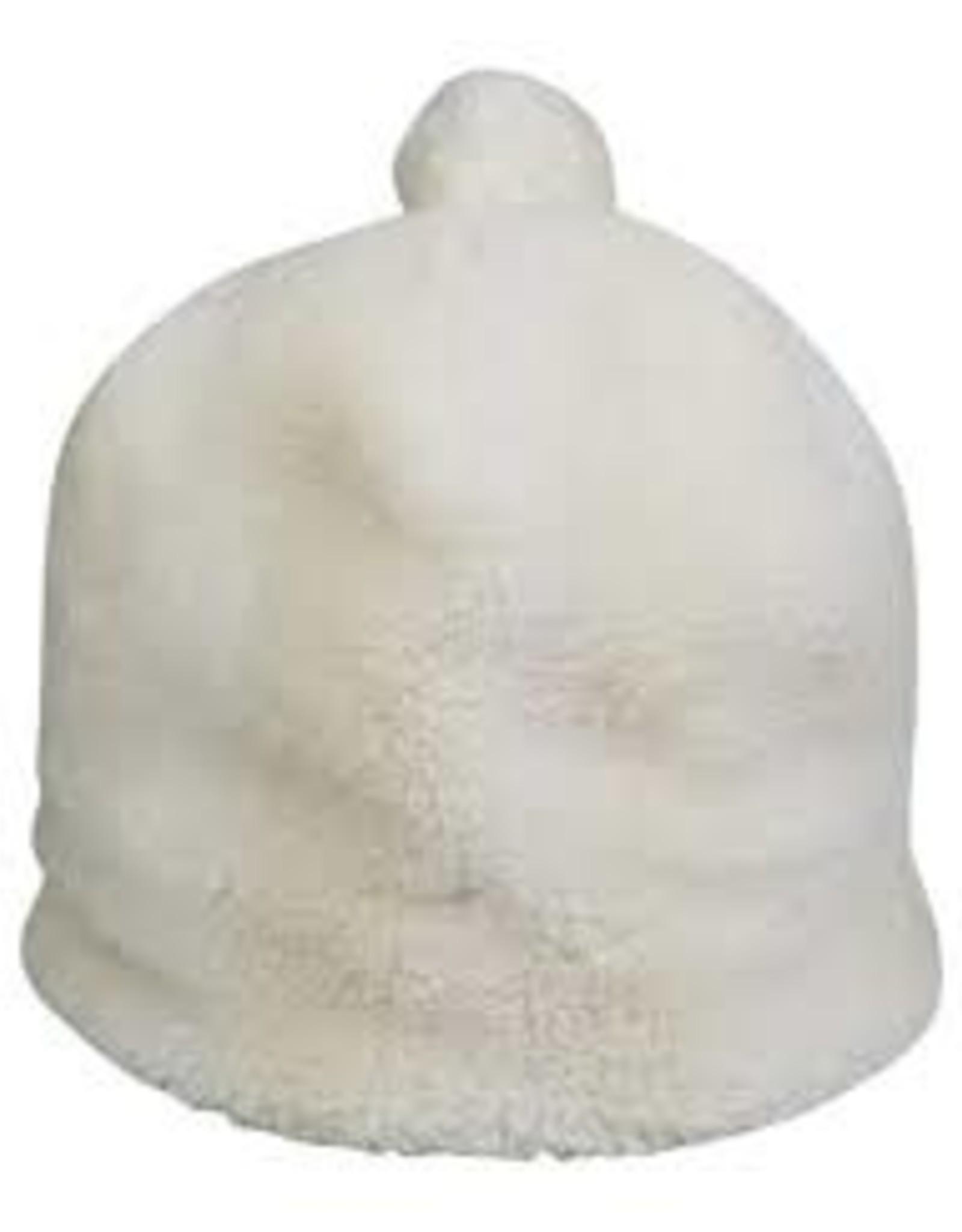 Hat Attack Teddy Pom Hat - White
