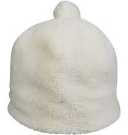 Hat Attack Teddy Pom Hat - White