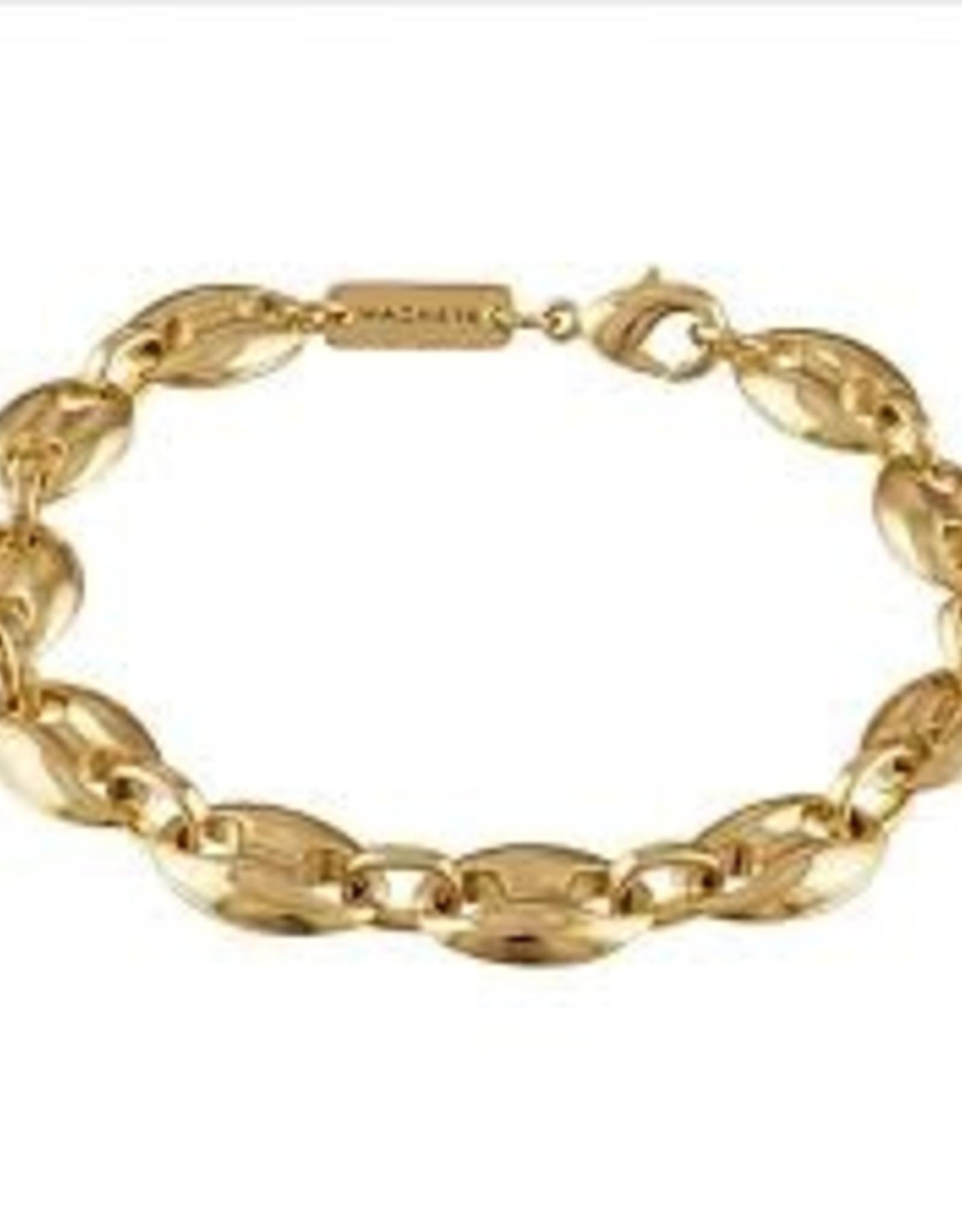 Machete Large Coffee Bean Bracelet - Gold