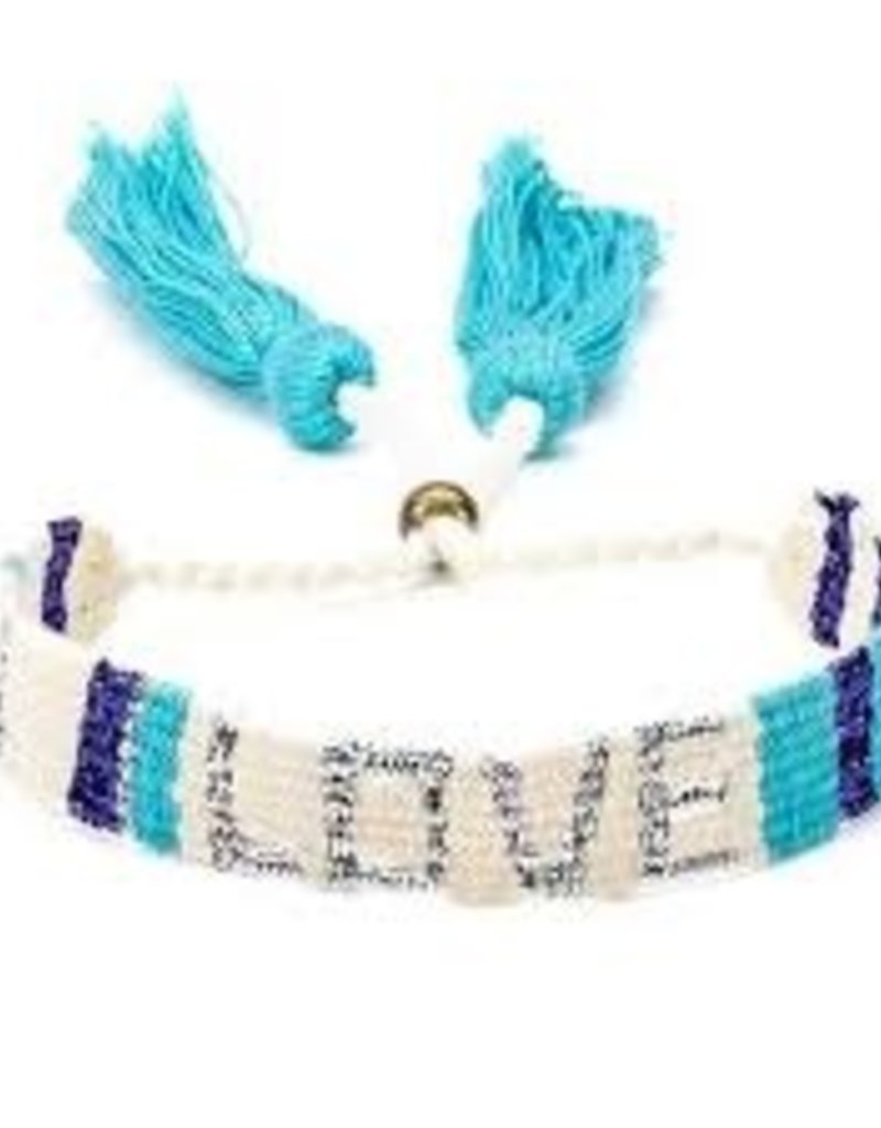 LOVE is Project Atitlan Love Bracelet White & Blue
