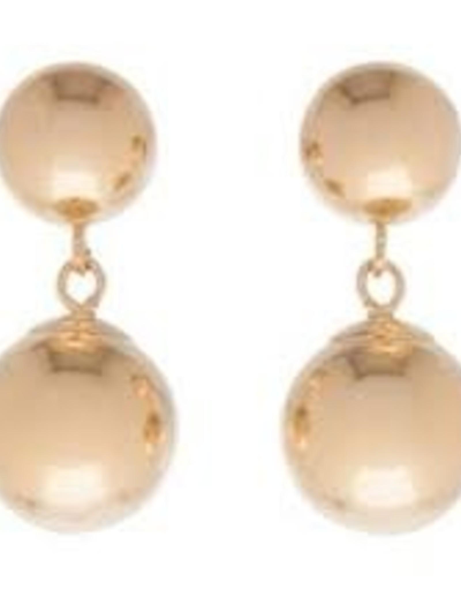 e.newton Clarity Stud Double Drop Gold