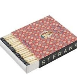 St. Frank Red Textile Label Matchbox