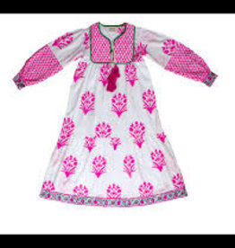 SZ Blockprints Kitty Dress Hot Pink