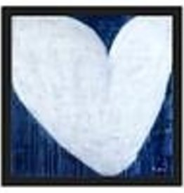 Kerri Rosenthal 15x15 Blue Drippy Heart
