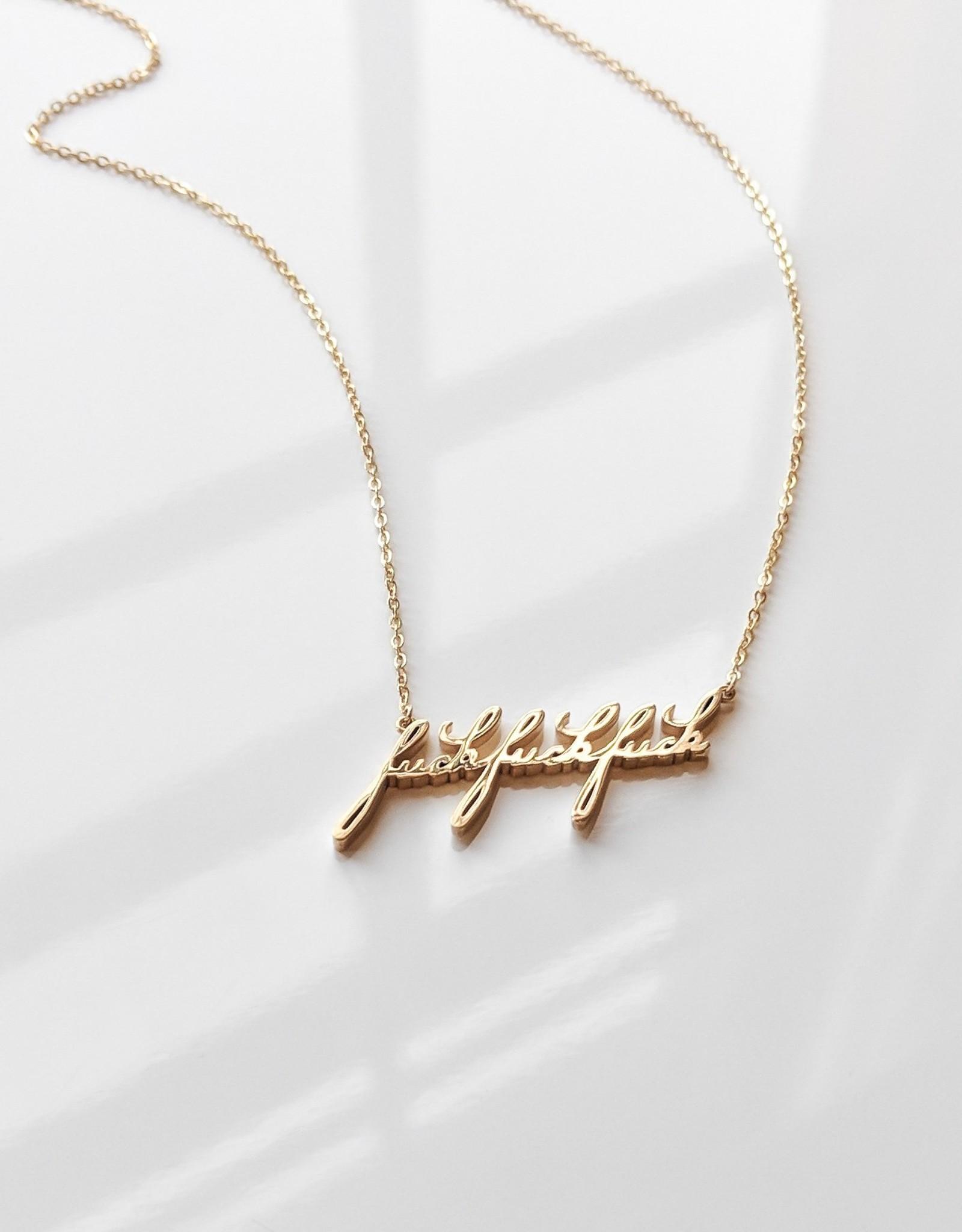 "Thatch Jewelry ""F"" Script Necklace"