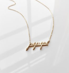 "Thatch Jewelry ""F"" Script Necklace"