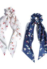 Shiraleah Set of 2 Floral Scarf Scrunchie