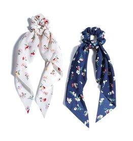 Shiraleah Set of 2 Floral Scarf Scrunchie
