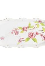 Juliska Hostess Tray Floral Sketch Camellia