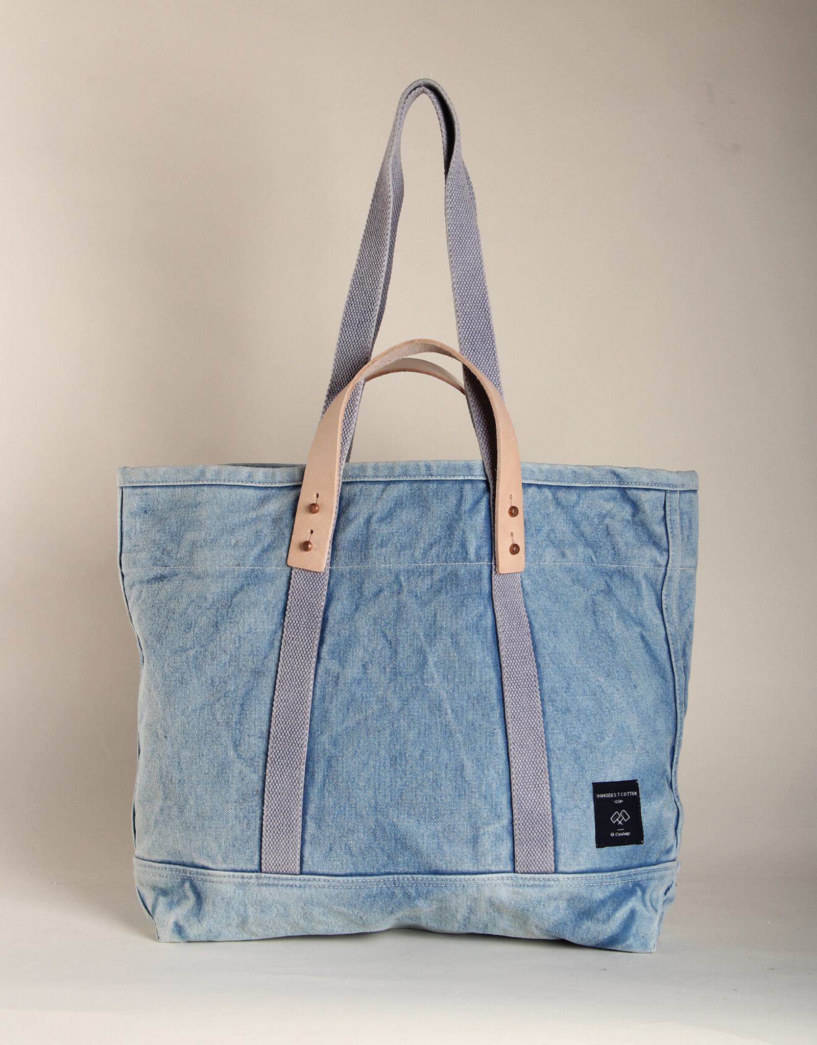Immodest Cotton Acid Wash Tote - Large