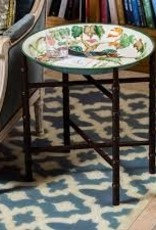 Habitat International Lacquered Tray and Stand  - Canton Flower