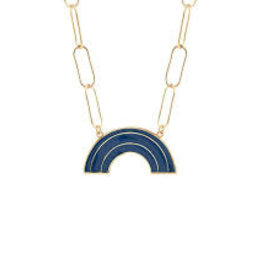 Kris Nations Rainbow Enamel Link Necklace