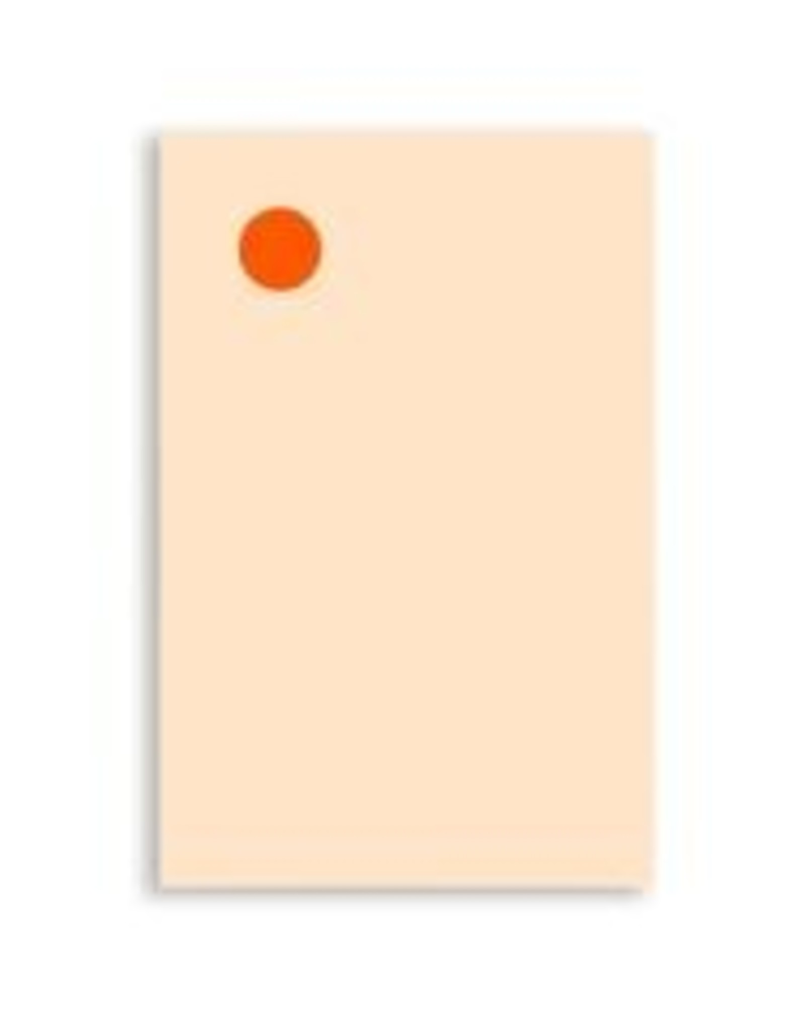 Moglea Memo Pad Orange Dot White