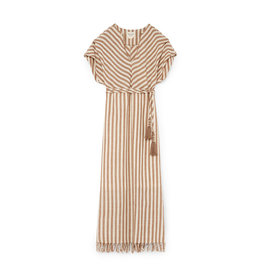 Mirth Sydney Dress Taupe Stripe