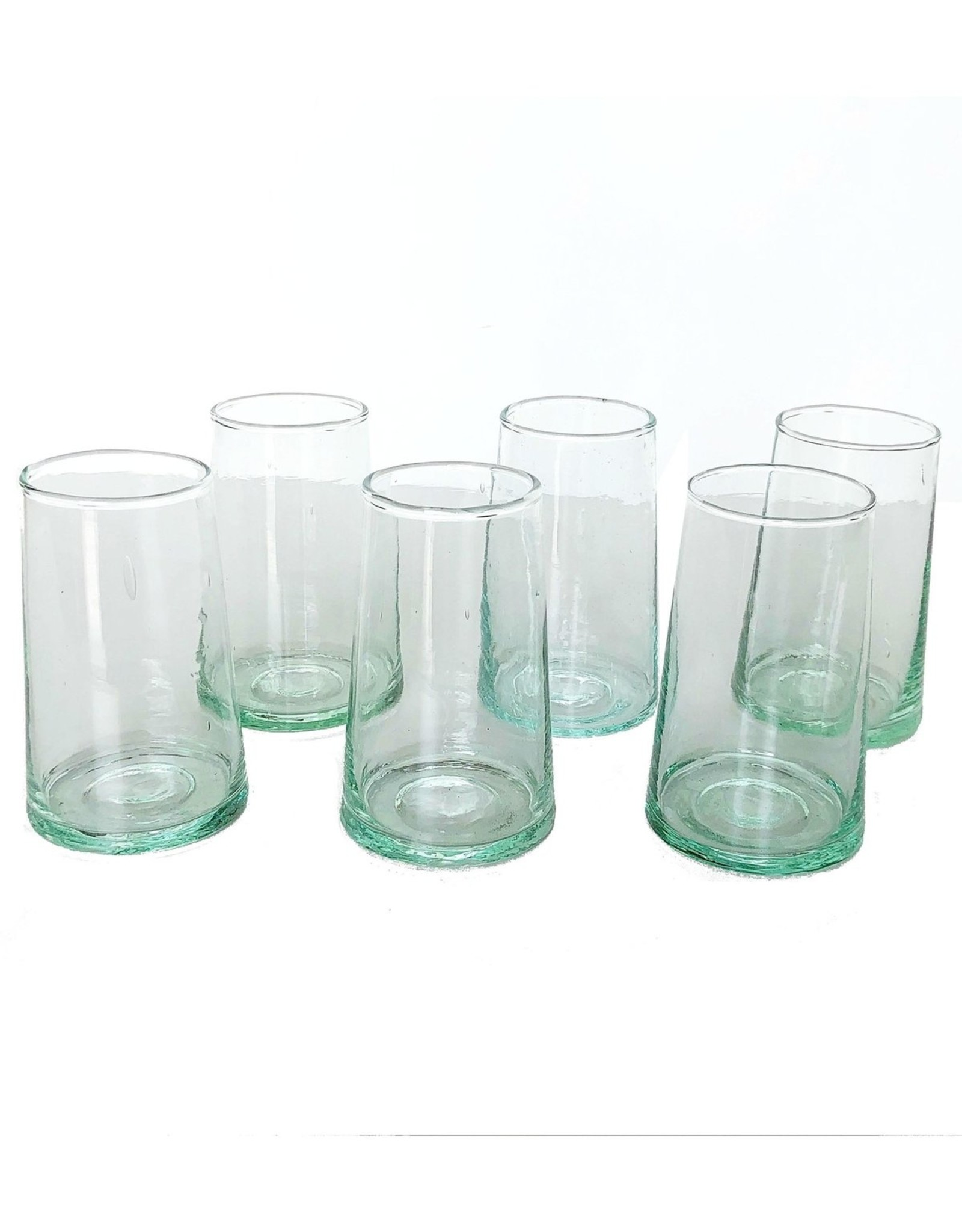atelierBoemia Blown Recycled Water Glass S/6