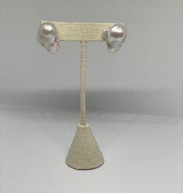 Machete Baroque Pearl Studs