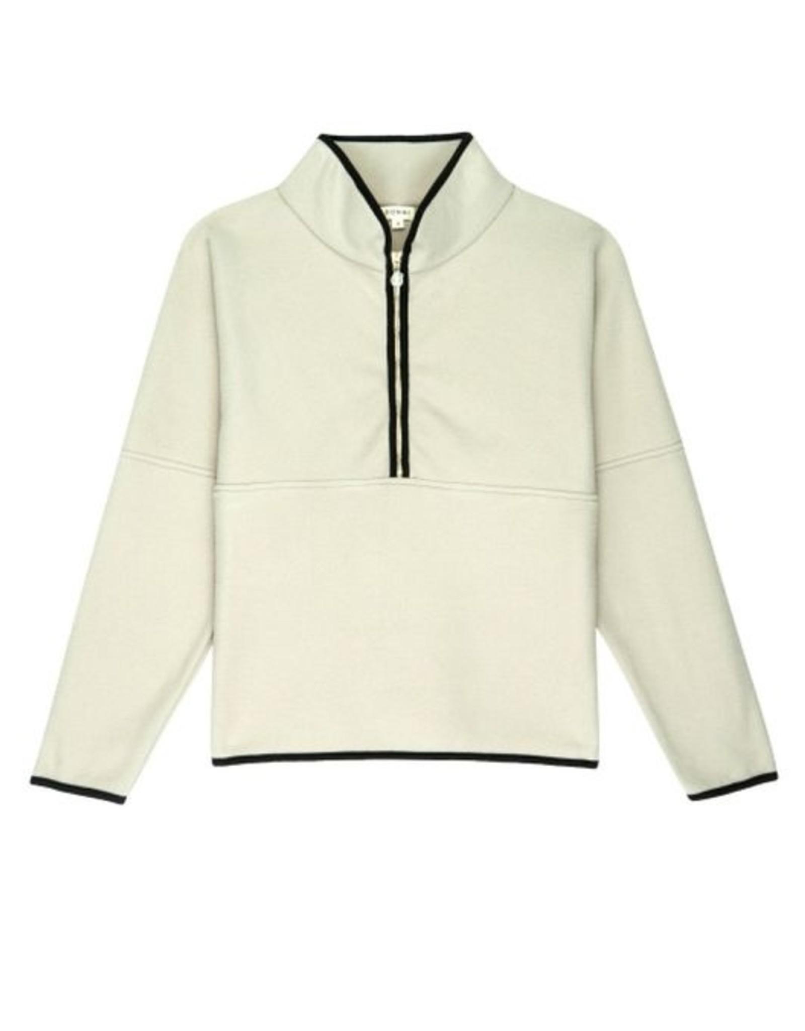 DONNI Polar 1/2 Zip Pullover w/Pearl