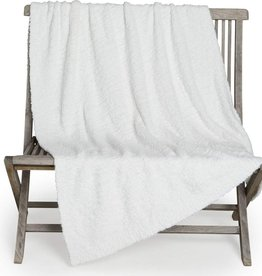 Barefoot Dreams Winter White Boucle Throw 50x70